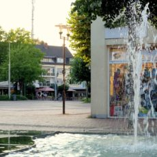 Brückerfeld am Springbrunnen